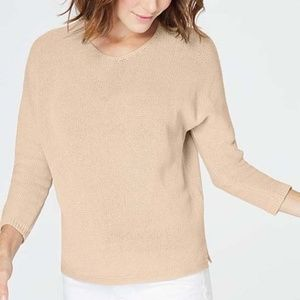 J. Jill flax textured dolman Sweater cotton linen